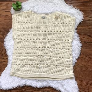 Madewell Wallace Punchcard chunky knit sweater